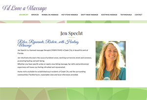 Jen Specht of I'd Love a Massage
